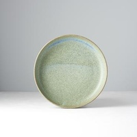 200mm Shallow Plate Green Fade