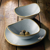 165mm Coupe Plate Duck Egg Blue - Churchill