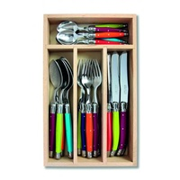 24 Piece Cutlery Set Multi Coloured (Wild Flowers), Andre Verdier Laguiole