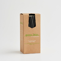 Straight Paper Straw Black (Pkt 250) Green Bean