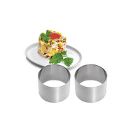 70mm cooking ring set, 60mm high Stainless Steel Kitchen Craft