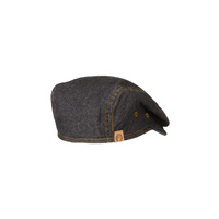 Manhattan Denim Driver Cap Black - HB006-BLK - One size fits most