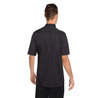 Bistro Mens Chefs Shirt Black, Lite weight, short sleeve (size) Chef Works K150