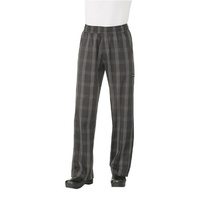 Better Built Baggy Pants Black Plaid Large - BPLD-BLK-L Chef Works
