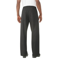 Better Built Baggy Pants Black (Size) with zip fly- BSOL-BLK Chef Works