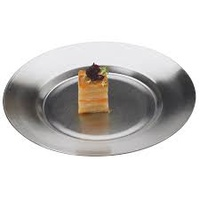 15cm S/S Plate Pewter Look Vollrath