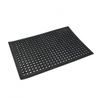 900x600mm Anti-Fatigue Mat Black