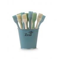 185mm Silicone Brush Neutral Colours, Zeal