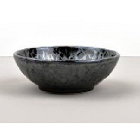 130mm Shallow Bowl Black Pearl