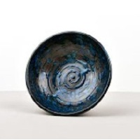 130mm Small Bowl Copper Swirl