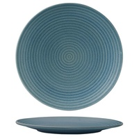 310mm Ribbed Coupe Plate - Denim