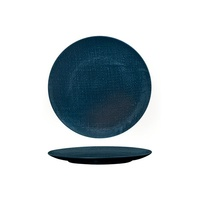 210mm Coupe Plate Linen - Navy Blue