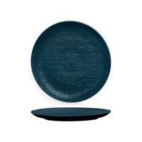 260mm Coupe Plate Linen - Navy Blue