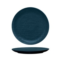 285mm Coupe Plate Linen - Navy Blue