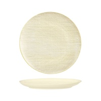 285mm Coupe Plate Linen Reactive White Luzerne