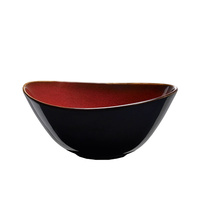 155 x 145mm Oval Bowl - Crimson