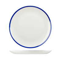 165mm Coupe Plate Retro Blue - Churchill
