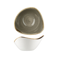 153mm Triangular Bowl (260ml) - Peppercorn