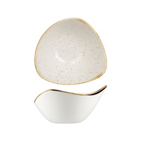 153mm Triangular Bowl (260ml) - Barley White