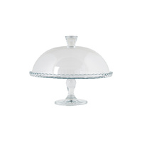 322mm Glass Cake Cover and Cake Stand