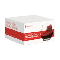 630ml Four Pack of Authentis Stemless Bordeaux Wine Glass, Spiegelau
