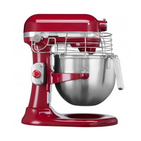 Commercial KitchenAid Mixer With 7.6 Litre Stainless Steel Bowl, Empire Red with safety guard