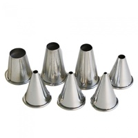 7 Piece Plain Nozzle Set - Stainless Steel