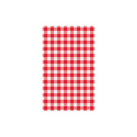 Gingham Red Greaseproof Paper (Pkt of 200)