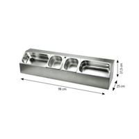 980mm Stainless Steel Ingredient stand (includes six 1/6 GN)