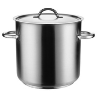 24 litre Stockpot with Lid  - Stainless Steel Pujadas -  280 x 280mm
