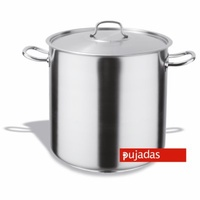 34 litre Stockpot with Lid - Stainless Steel Pujadas - 350 x 350mm