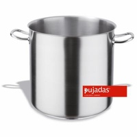 16.5 Ltr Stockpot Without Lid - Stainless Steel Pujadas - 280 x 280mm