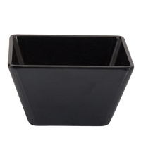 130 x 13 0x 70mmH Black Square Bowl - Melamine