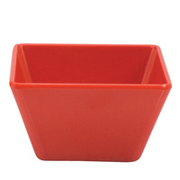 130 x 130 x 70mmH Red Square Bowl - Melamine