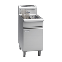 WALDORF LOW PROFILE GAS FRYER WITH SPLIT TANK TWO BASKET 450wide X 805 Deep X 1085mm High