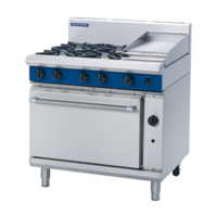 Blue Seal G506C Gas Static Oven, 4 Hobs & Griddle Plate