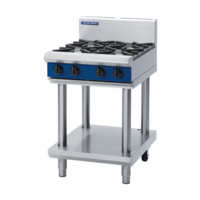 600mm Blue Seal Gas 4 Burner Cooktop On Leg Stand
