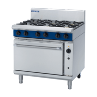 Blue Seal  G56D  Gas Convection Oven With 6 Hobs - 900mm Wide