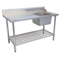 1200x700x900mm S/S bench with Sink on Right hand side