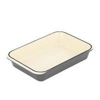 400 x 260mm Cast Iron Rectangular Roasting dish Caviar- Chasseur