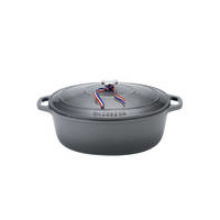 270mm Cast Iron Oval French Oven (3.6 litre) Caviar- Chasseur