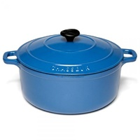 260mm Cast Iron Round French Oven (5.2Ltr) Sky Blue- Chasseur