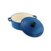 280mm Cast Iron Round French Oven (6.1Ltr) Sky Blue- Chasseur