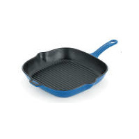 250mm Cast Iron Frypan Sky Blue - Chasseur