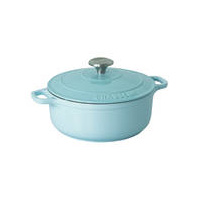 240mm Cast Iron Round French Oven (3.8 litre) Duck Egg - Chasseur