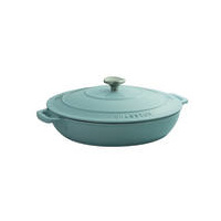 300mm Cast Iron Round Casserole (2.5 litre) Duck Egg Blue- Chasseur