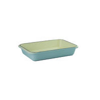 400 x 260mm Cast Iron Rectangular Roasting dish Duck Egg Blue- Chasseur