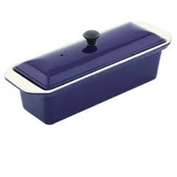 280mm Cast Iron Rectangular Terrine French Blue