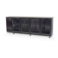 Backbar 4 Door Chiller, Swing door, Underbench, with integral motor - Skope (sliding doors or Remote motor additional)