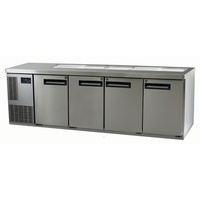 Skope Pegasus 4 Door Underbench Chiller With 10 x 1/3 Size 150mm Deep Pans - 2267x700x751mmH